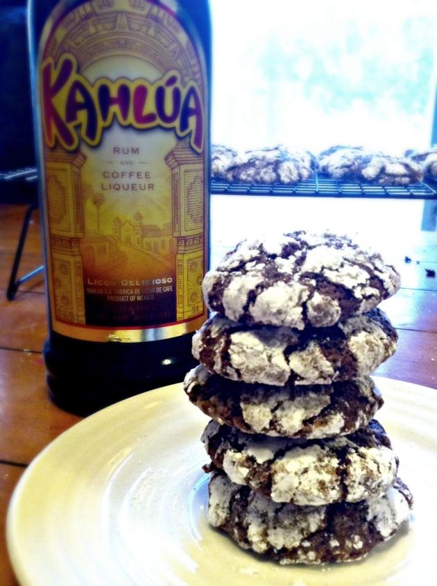 Kahlua Espresso Crinkles | longdistancebaking.com